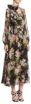 Giambattista Valli Garden Floral Silk Dress