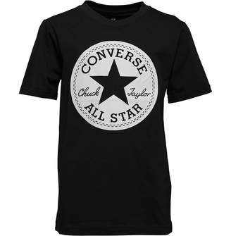 Converse Junior Boys Chuck Taylor Script Short Sleeve T-Shirt Black