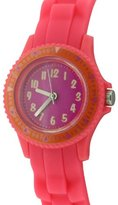 Citron Children's Quartz Watch with Pink Dial Analogue Display and Pink Silicone Strap KID111