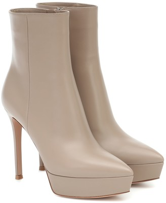 Gianvito Rossi Dasha 120 leather ankle boots