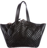 Alaia Laser Cut Leather Tote