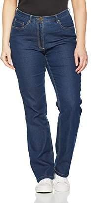 Ulla Popken Women's Jeans Regular Fit Stretch, K Trouser,33W / 32L