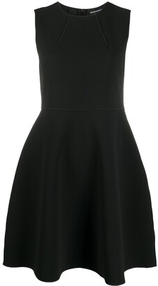 Emporio Armani Dart Detail Sleeveless Dress