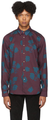 Paul Smith Burgundy Floral Tailored Fit Shirt