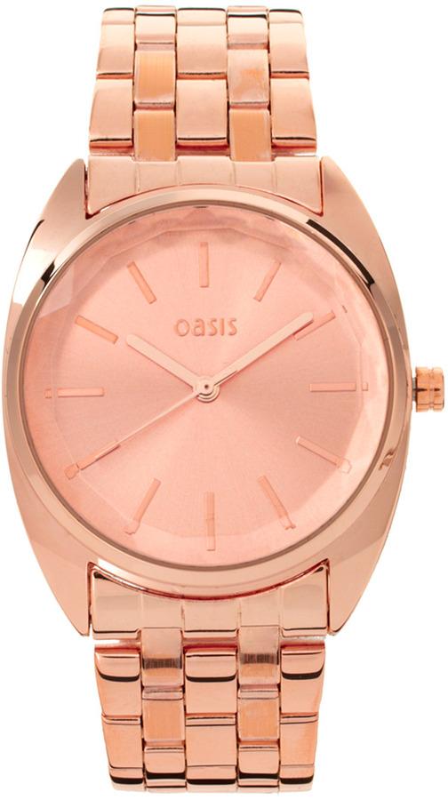 Oasis Rose Gold Bracelet Watch