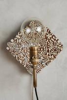 Anthropologie Carved Wood Sconce