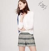 "LOFT Petite Striped Sailor Riviera Shorts with 3 1/2"" Inseam"