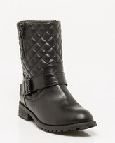Le Château Quilted Leather-Like Ankle Bootie