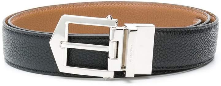 Givenchy reversible pebble-grain belt