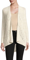Style And Co. Petite Pointelle Open-Front Cardigan