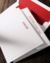 Boatman Geller 25 Elegant-Border Correspondence Cards with Plain Envelopes