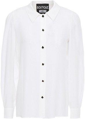 Boutique Moschino Button-detailed Crepe De Chine Shirt