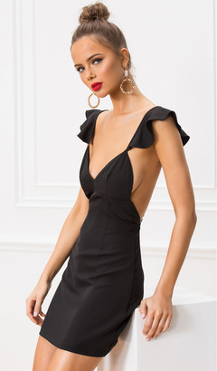 About Us Gianni Flutter Sleeve Dress