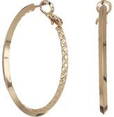GUESS Inside Textured Clutchless Hoop Earrings