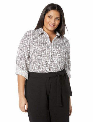 Foxcroft Women's Plus Size Ava Spanish Tile