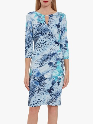 Gina Bacconi Mikelle Jersey Dress, Turquoise