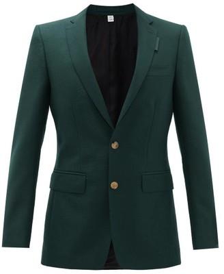 Burberry Slim-fit Wool-blend Jacket - Mens - Green