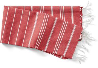 Turkish T Basic Hand Towel - Red/White
