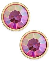 Kate Spade Gold-Tone Green Crystal Stud Earrings