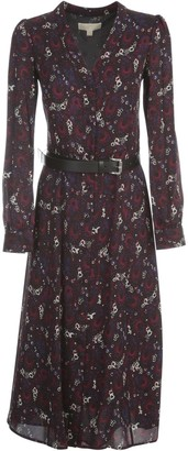MICHAEL Michael Kors Azalea Belted Midi Dress