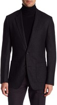 Bonobos Grey Speckled Two Button Notch Lapel Trim Fit Blazer