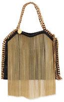 Stella McCartney Falabella Metal Fringe Crossbody Tote Bag, Black