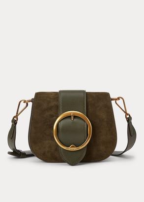 Ralph Lauren Suede-Trim Lennox Bag