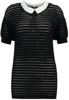 Morgan MLOU Print Tshirt noir