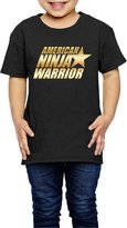 MAUCRCT Little Girls' American Ninja Warrior Gold Logo 2-6 Toddler T-Shirt