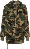 Faith Connexion camouflage print hoodie