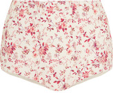 Etro Floral-print Cotton Shorts - Red