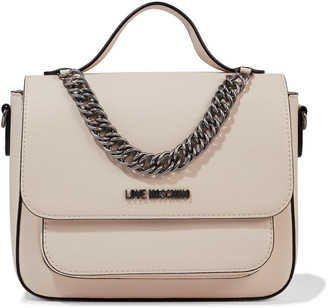Love Moschino Chain-embellished Faux Leather Shoulder Bag