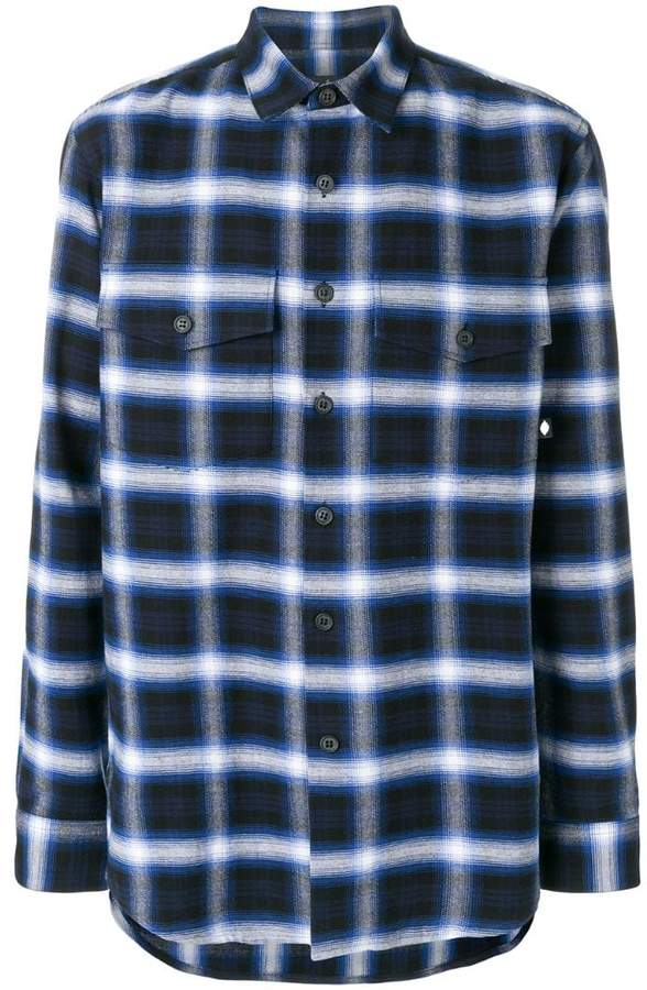 Marcelo Burlon County of Milan Parrot plaid flannel shirt