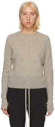 Rick Owens Beige Biker Level Sweater