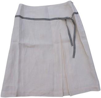 Tara Jarmon Ecru Linen Skirt for Women