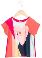 Paul Smith Girls' Printed Short Sleeve Top w/ Tags