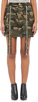 Hood by Air Women's Uniform Triple Miniskirt-GREEN