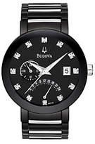Bulova Men's Diamond-Accented Black Dial Bracelet Watch