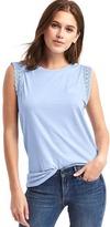 Gap Luxe crochet-trim muscle tank