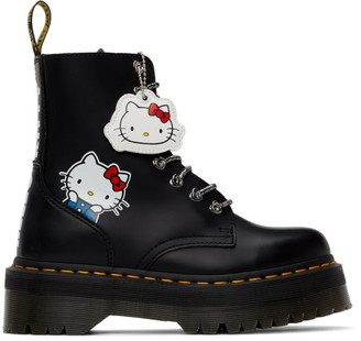 Dr. Martens Black Hello Kitty Edition Jadon Boots
