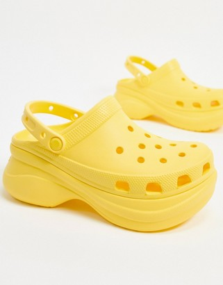 Crocs Bae platform clog in yellow