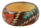 Chunky Tribal Print Inlaid Bangle