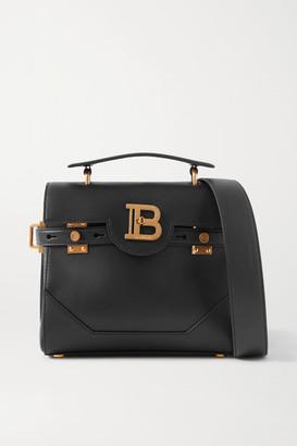 Balmain B-buzz 23 Leather Shoulder Bag - Black