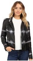 Brigitte Bailey Skylar Faux Leather Tie-Dye Jacket