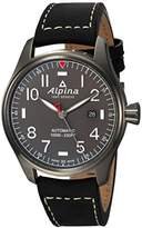 Alpina Men's 'Startimer' Swiss Automatic Stainless Steel and Leather Casual Watch