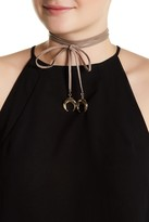 Stephan & Co Genuine Leather Wrap Around Bolo Choker
