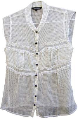 Tara Jarmon White Silk Tops