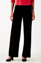 J. Jill Wearever Smooth-Fit Full-Leg Velvet Pants