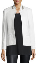 Zadig & Voltaire Volly Cotton-Blend Jacket, Blanc
