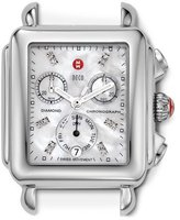 Michele 18mm Deco Diamond Dial Watch Head, Steel